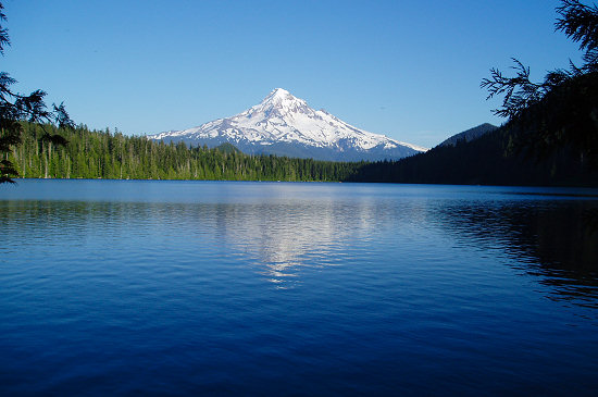 Mt. Hood as seen from Lost Lake