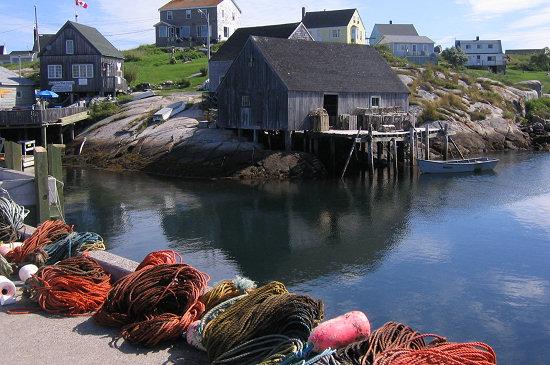 A quintessential Nova Scotia harbor scene