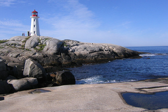 Lighthouse in Halifax Harbor