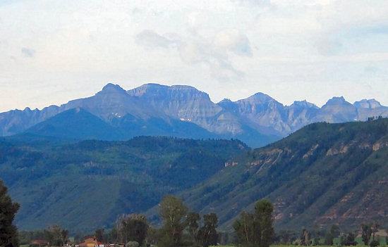 The San Juan Mountains viewed from Ridgeway