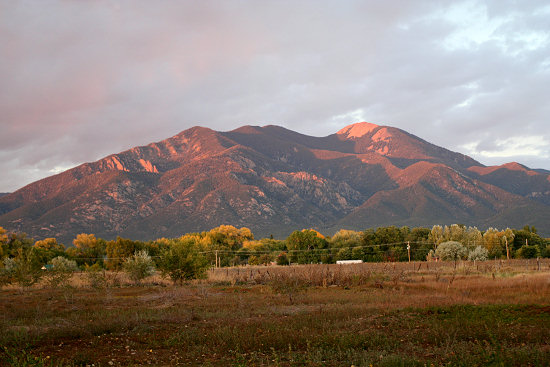 Taos Mountain at sunset