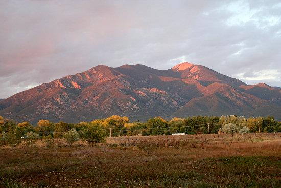 Taos Mountain at sunset