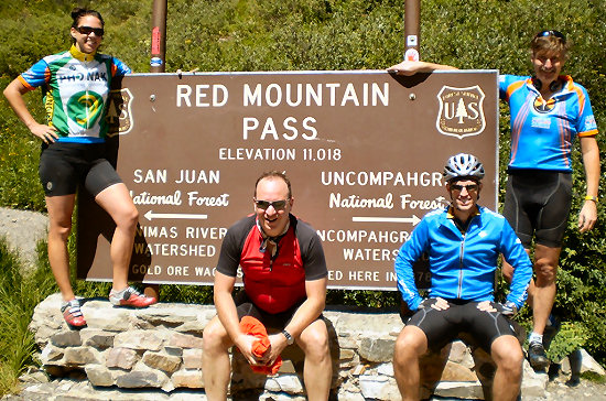At the top of Red Mountain Pass