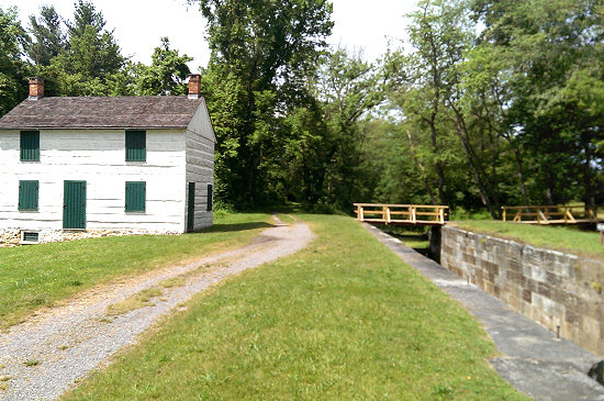 One of the many old locks along the C&O Canal