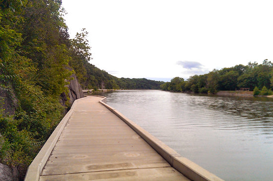 Big Slackwater along the C&O Canal
