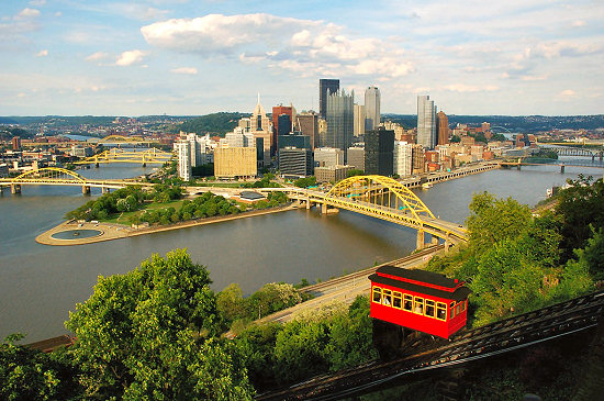 The start of the Great Allegheny Passage in Pittsburgh