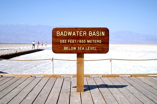 Badwater Basin is the lowest point in North America