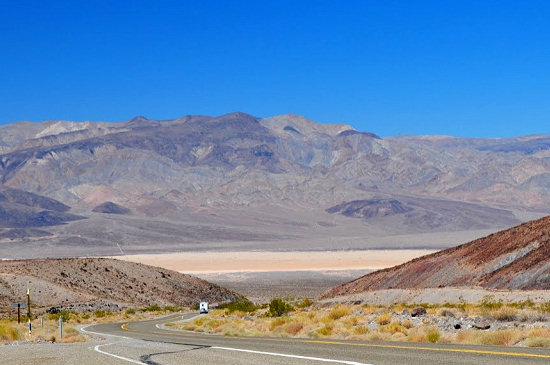 Looking back to Death Valley