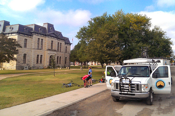 Starting from the Old Blanco County Courthouse