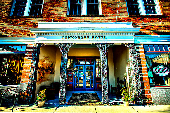 The Commodore Hotel in Linden, TN