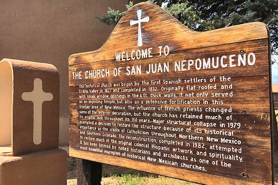 Church of San Juan Nepomuceno, El Rito, New Mexico
