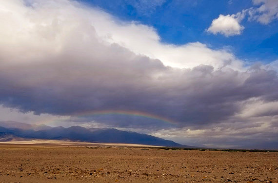 Rainbow in Death Valley