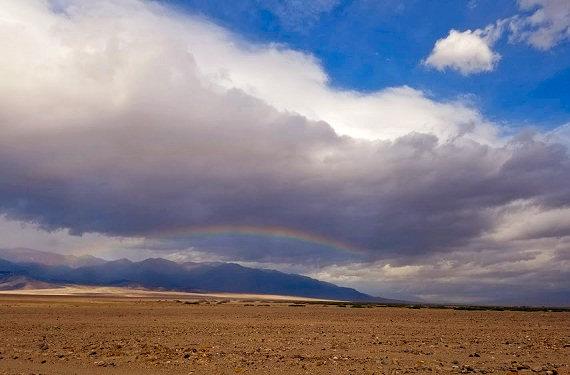 Rainbow in Death Valley