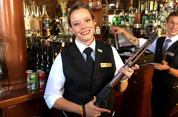 Don't mess with the staff at the Strater Hotel!