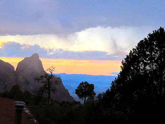 Dramatic skies in Chisos Basin