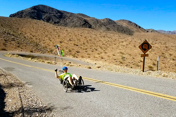 Climbing along the Old Spanish Highway to Shoshone