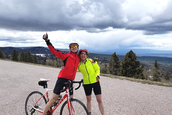 Completing the  climb to over 10,500' in the Brazos Mountains