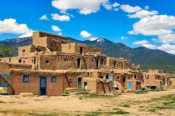 Taos Pueblo. A village over 1,000 years old.