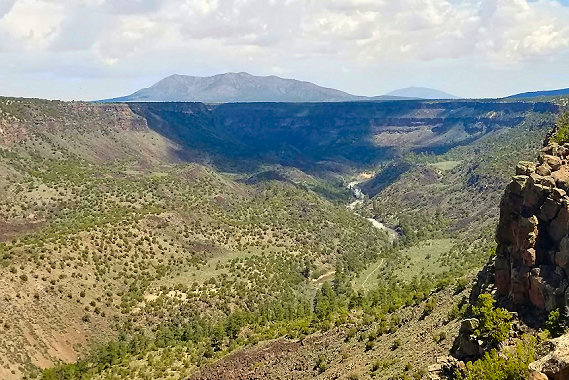 View of the Rio Grande Gorge in Rio Grande del Norte National Monument