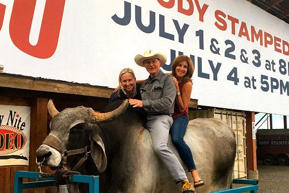 Rodeo night in Cody, Wyoming