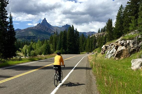 Riding into Cooke City, Montana
