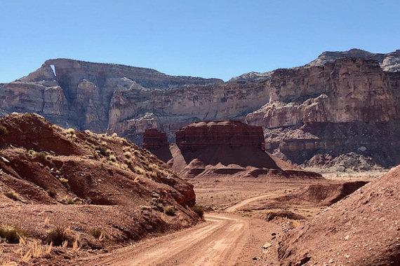 Riding through Reds Canyon
