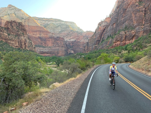 Riding in Zion National Park
