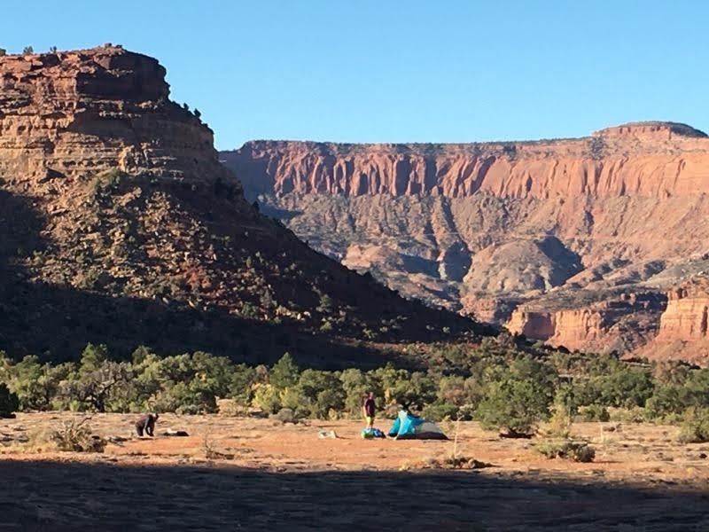Camping under the majestic red rocks